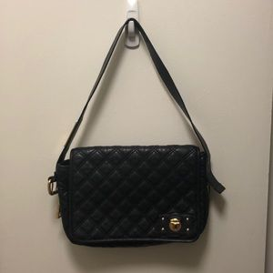 Marc Jacobs Black Leather Quilted Handbag